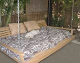 Cypress Porch SWING BED 6 ft With Heavy Duty 10ft galvanized CHAIN set and made from Rot-resistant Cypress Eternal Wood Made in the USA - Green Furniture - GO GREEN