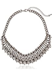 "Crystal Collar Statement in Burnished Necklace, 13""+3"" Extender"