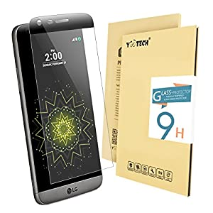 LG G5 Tempered Glass Screen Protector,Yootech LG G5 [3D Full Cover] Curved tempered Glass Screen Protector,0.26mm 9H Hardness Featuring Anti-Scratch,Lifetime Warranty by yootech
