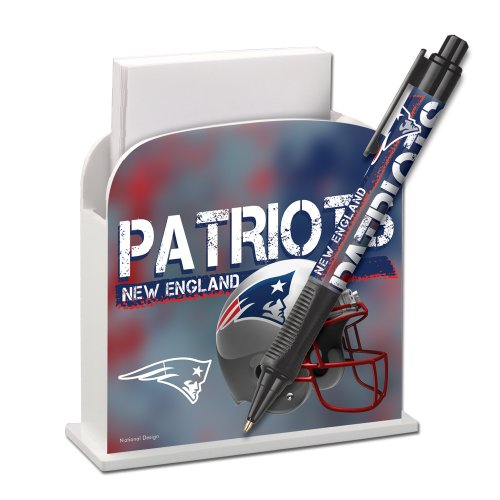 New England Patriots Stationery Desk Caddy With Matching