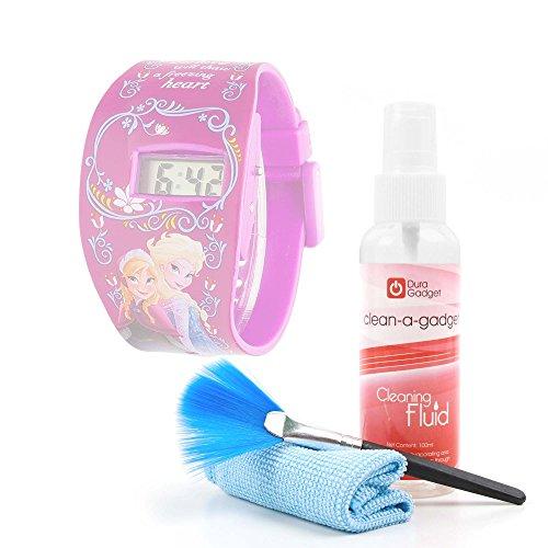 Kit Pulizia Per Disney Frozen FROZ2 Orologio | Minions | Marvel - Spray Pulitore + Spazzola + Panno Di Microfibra - DURAGADGET