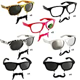 Sun-Staches The Original Mustache Sunglasses Catch eyes. Turn heads. BE THE PARTY. (24 Piece Set)