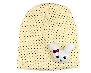 BONAMART ® Infant Children Toddler Newborn Baby Girl Boy Small White Rabbit Cute Design Knitted Hat Cap Yellow