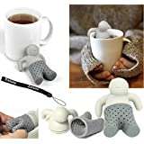 1 X HeroNeo® Lot Silicone Mr.Tea Infuser Loose Tea Leaf Strainer Herbal Spice Filter Diffuser