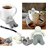 HeroNeo® Lot Silicone Mr.Tea Infuser Loose Tea Leaf Strainer Herbal Spice Filter Diffuser