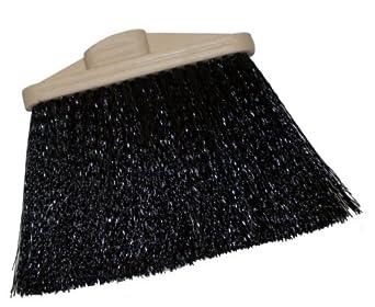 "Magnolia Brush 475-DS Warehouse Broom, Poly Bristles, 7"" Trim, 9"" Length, Black (Case of 12)"