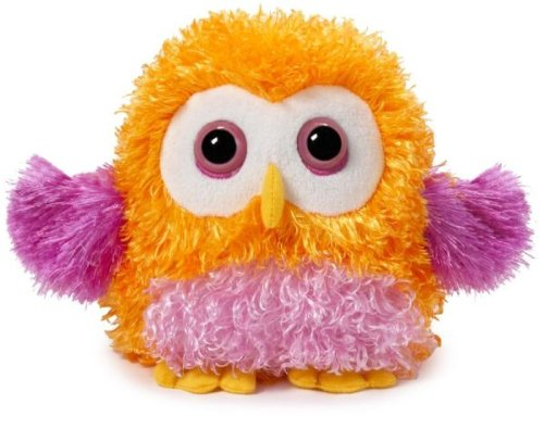 "Ganz Owl 7"" Whoorah Hoots Plush Toy, Orange"