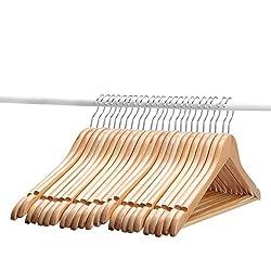 AADYA Wooden Suit Hangers - 24 Pack