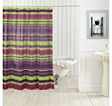 Ocean Dew Ikat Shower Curtain - @home By Nilkamal, Green