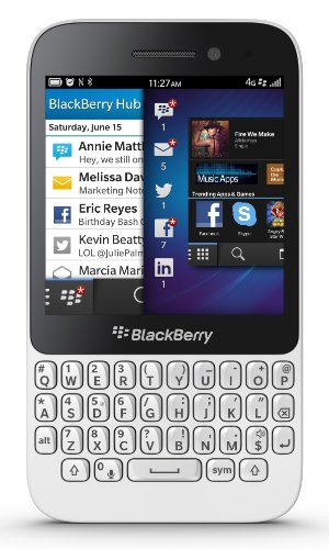 """Blackberry Q5 Sqr100-3 Unlocked Gsm Os 10 Dual-Core Smartphone W/ 3.1"""" Ips Lcd Touchscreen + Qwerty Keyboard - White"""