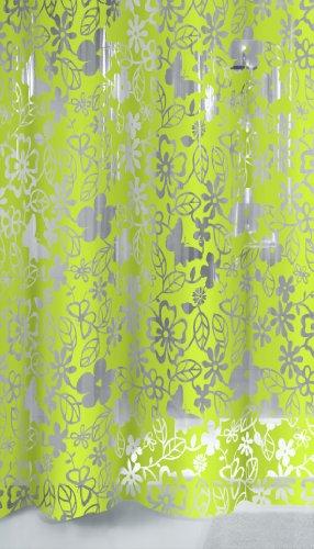 Kleine Wolke 5169625305 Duschvorhang Primavera, 180 x 200 cm, maigrün