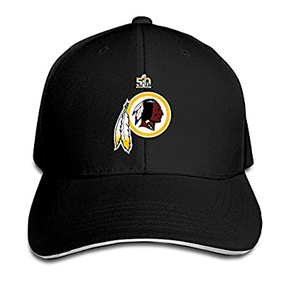 Bro-Custom Redskins Washington Sandwich Snapback Chapeau Baseball Cap Black