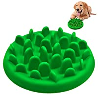 Slow Feed Dog Bowl, PETBABA Interactive Maze Nonslip Dog Food Bowl to Slow Down Eating Green L