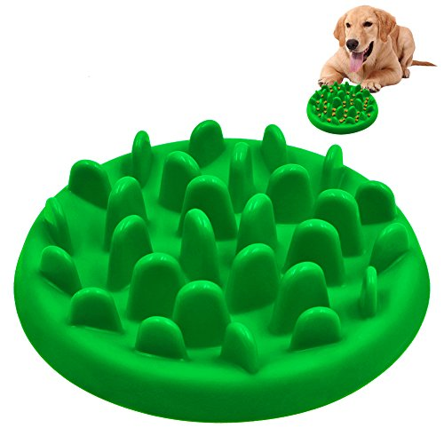 Slow Feed Dog Bowl, PETBABA Interactive Maze Nonslip Dog Food Bowl to Slow Down Eating Green S (Slow Down Food Bowl compare prices)