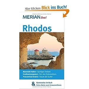 eBook Cover für  Rhodos Mit Kartenatlas im Buch und Extra Karte zum Herausnehmen MERIAN live