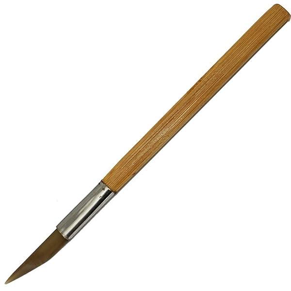 NIUPIKA Agate Burnisher Wit Bamboo Handle Knife Shape Polishing Tool