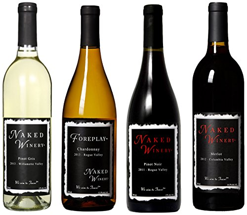 Naked Winery Best Sellers Mixed Pack, 4 X 750 Ml