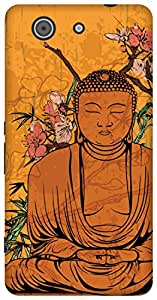The Racoon Lean peaceful buddha hard plastic printed back case for Sony Xperia Z3 Compact