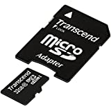 Transcend 32GB MicroSDHC Class10 Memory Card with Adapter 30 MB/s (TS32GUSDHC10)