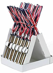 6 x Union Jack Citronella Outside Garden Candle 72cm on Bamboo Stick Citronella Oil Scented Candle works as a Natural Mosquito Repellent Great for Outdoor Parties Wedding Candles by Sal