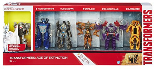 Transformers-4-Age-of-Extinction-Exclusive-Action-Figure-6-Pack-Optimus-Drift-Lockdown-Grimlock-Slug-Bumblebee
