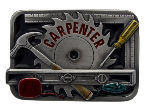 Carpenter Belt Buckle including Presentation Box