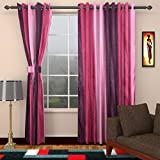 Ajay Furnishings 2 Piece Polyester Modern Door Curtain - 7 ft, Purple