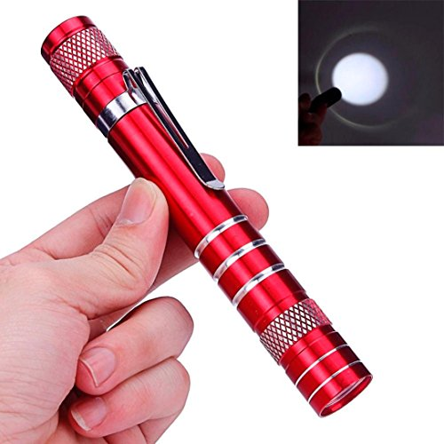 Flashlight,Baomabao Mini 1200LM High Power Torch Cree Q5 LED Tactical Flashlight AA Lamp Light_Red