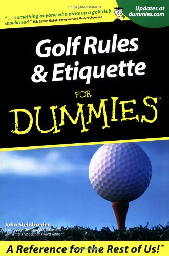 Golf Rules And Etiquette For Dummies Sporting Goods Team