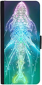 Snoogg Digital Fishy Designer Protective Phone Flip Case Cover For Xiaomi Mi 4