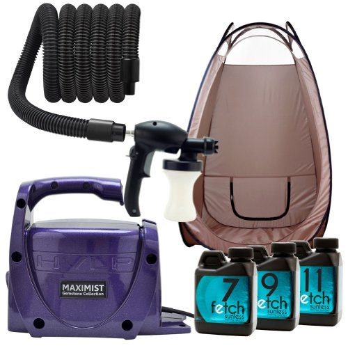 Amethyst Hvlp Spray Tanning Machine Maxi Mist Xl Fetch Dha Brown Tent Kit 2A front-867658