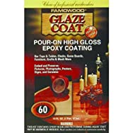 Famowood Glaze Coat Pour On Finish-16OZ CLR POUR-ON COATING