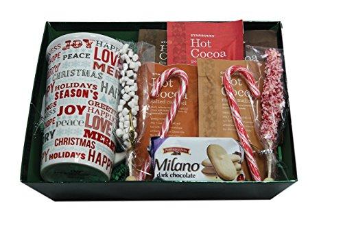 Holiday Gift Set with 22 oz Mega Mug and Starbucks Hot Chocolate Assortment (Popcorn Mug compare prices)
