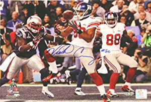Victor Cruz, New York Giants Super Bowl 46 Touchdown Catch, Autographed 16x20 Photo by Legends Gallery