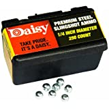 Daisy Outdoor Products Steel Slingshot Ammo (Black, 1/4 Inch)