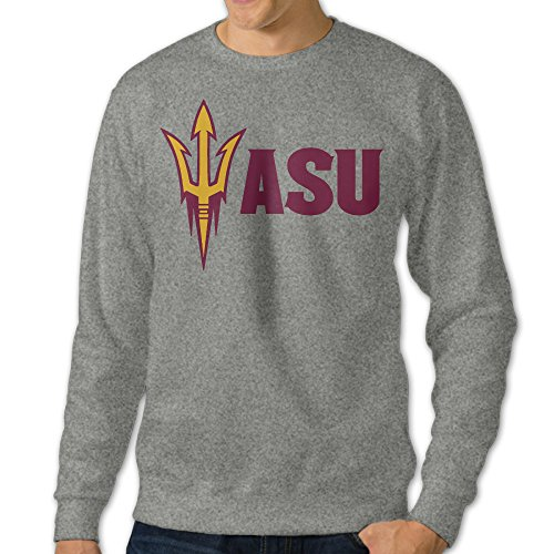 Kamifa Arizona State University Logo Men's Pullover Hoodie Ash SizeXXX-Large