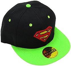 Masti Station Hip Hop Snapback Superman Cap (Black and Green)