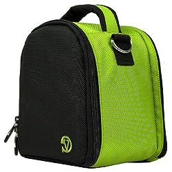 MyVangoddy SumacLife Laurel Edition Compact Lime Green Nylon Camera Carrying Bag