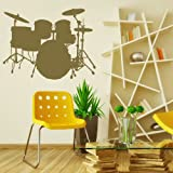 Drum Kit Kids Music Transfer / Interior Vinyl Decal / Music Wall Sticker NE75