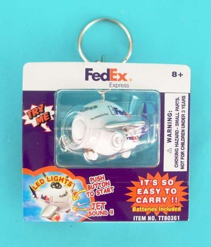 fedex-express-airplane-key-chain-w-lights-sound-by-toytech