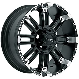 Incubus Crusher 17×9 Black Wheel / Rim 8×6.5 with a -12mm Offset and a 130.80 Hub Bore. Partnumber 816790865-12FBLM