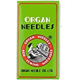 Organ HL X 5 Needles for Juki TL2000QI, TL2010Q, TL98 Series , Janome 1600P and Janome 1600P-QC Machines Size 75/11 (Color: silver)