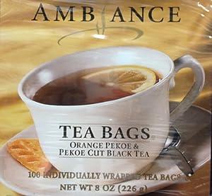 Amazon.com : 100 Ambiance Orange Pekoe & Pekoe Cut Black Tea Bags : Grocery & Gourmet Food