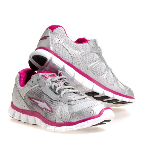 AVIA Women's Avi-Release Flex II A5693W Running Shoe,Chrome Silver/Ash Grey/Zuma Pink,8.5 B US