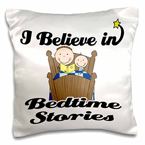 Dooni Designs I Believe In Designs - I Believe In Bedtime Stories Boys - 16x16 inch Pillow Case (pc_104794_1)