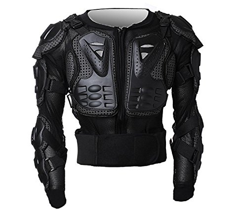 Motorcycle Full Body Armor Protector Pro Street Motocross ATV Guard Shirt Jacket with Back Protection Black XL (Rain Suit 5xl compare prices)