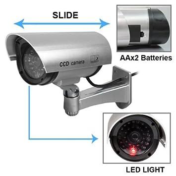 3X Attrappe Dummy Überwachungskamera Outdoor Außen CCD