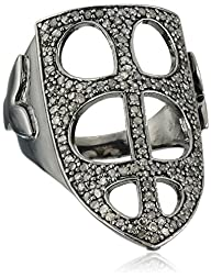 Azaara Sterling Silver Mitre Pave Cha…