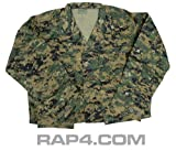 Digital Camo BDU Jacket (MARPAT) Large - paintball apparel