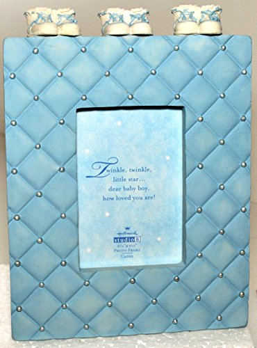 Baby Boy Blue Booties Photo Frame Hallmark Studio B